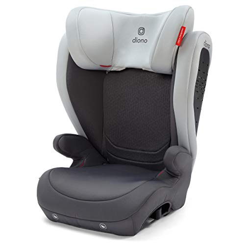 Diono Monterey 4DXT Latch, 2-in-1 Belt Positioning Forward Facing Booster Seat, High Back Booster Mode with Expandable Height, Width, 4-Layers of Protection, 8 Years 1 Booster, Grey Light