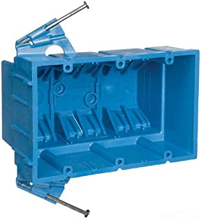 Carlon BH353A Switch/Outlet Box, New Work, 3 Gang 5.8 Inch by 3.8 Inch by 3.5 Inch, Blue