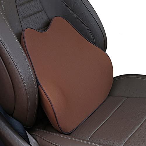 HBYXGS Auto Poggiatesta Cuscino Neck Memory Lumbar Supporto Lombare in Cotone Traspirante Auto Collo Auto Pest Seat Poggiatesta Cuscino (Color : Brown Cushion)