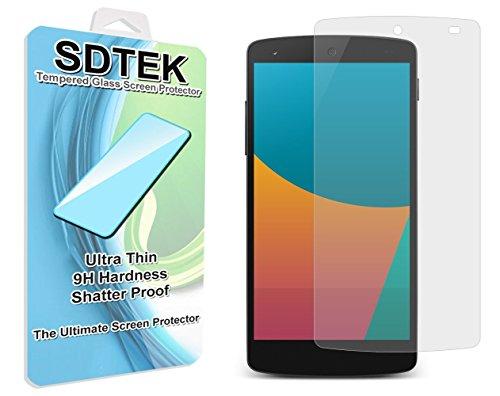 SDTEK LG Google Nexus 5 Protector de Pantalla Cristal Vidrio Templado Glass...
