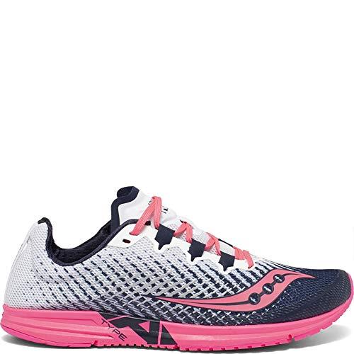Saucony Type A9 Women's Running Shoe, White/Pink, 9.5 Medium