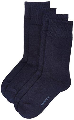 Hudson Herren Socken mit Plüschsohle, 024784 Only Plush, 2er Pack, Gr. 43/46, Blau (Marine 0335)