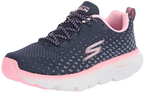 Skechers womens Go Power - Max Cushioning Running Shoe, Navy/Pink, 9 US