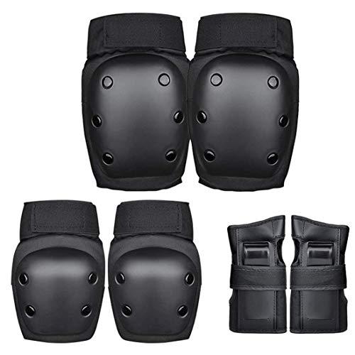 Setemlong Protezione Gear Set per Bambini e Adulto Ginocchiere Gomiti Polsiere Utilizzato per Sport all'Aria Aperta Come Principianti di Skateboard o Esercizi di Ciclismo (6 Pezzi) (Large)