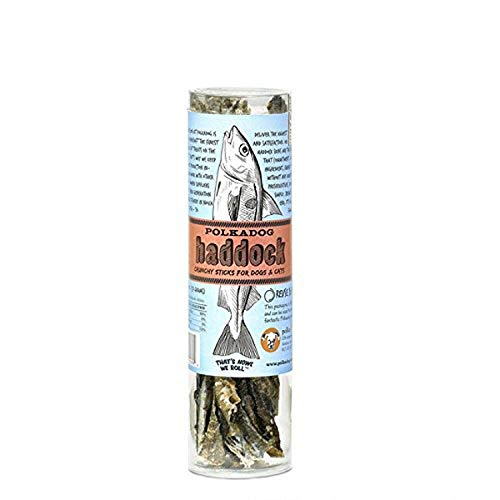 Polka Dog Bakery Haddock Skins All Natural Dog Treats Tube, 2 Oz