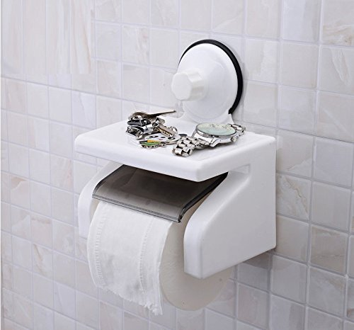 Suction Cup Mounted Toilet Paper Holder
