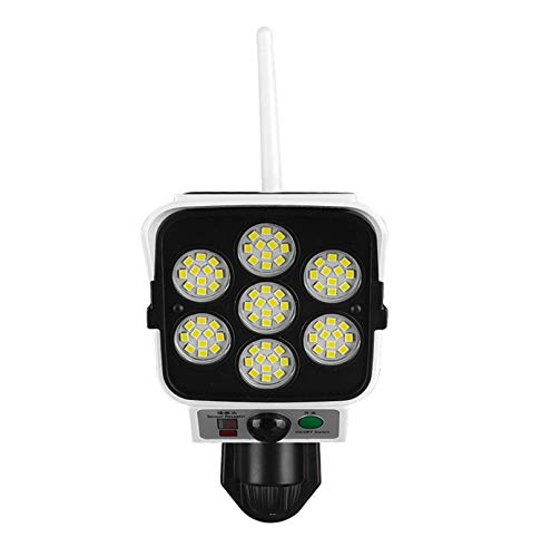 Jiudong Sensor de Movimiento de Luz Solar de Jardín Luz Solar para Exteriores-Falsas Luces de Cámara de Seguridad a Prueba de Agua Lámpara de Pared LED de Control Remoto Inalámbrico para