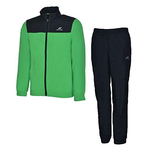 Pro Touch Präsentationsanzug Divio + Dobrin UX Kinder Trainingsanzug Green/Black, Größe:176