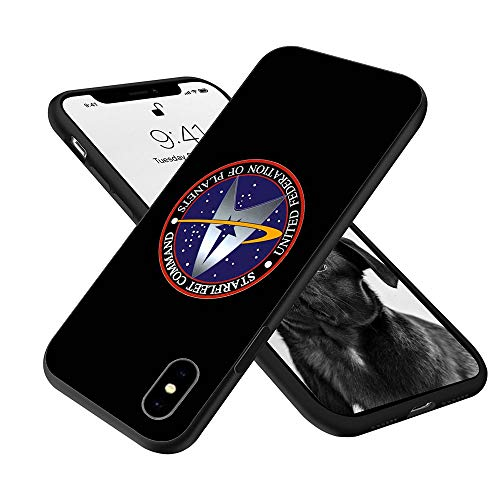 Silicone Case Compatible with iPhone XR, Full Body Protection Cover Case (Star-Trek)