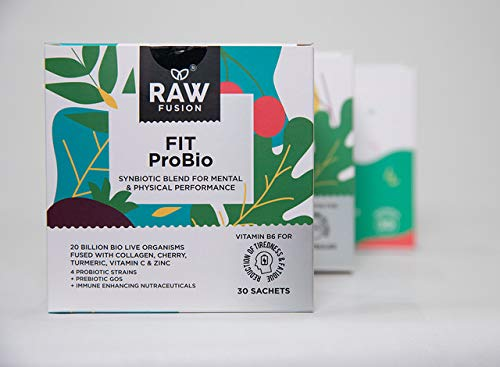 10 x FIT PROBIO. All-in-ONE High Strength Multi-Strain Herbal Infused Probiotic for Energy, Skin-Care, Anxiety, Immunity, Sports Performance, Inflammation & Joint Care.