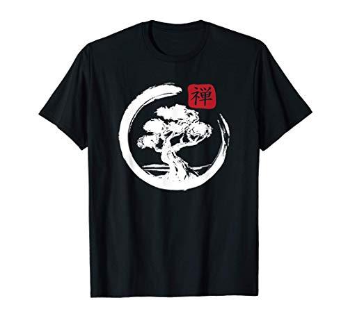 Bonsai Albero Giapponese Giapponese Zen Maglietta