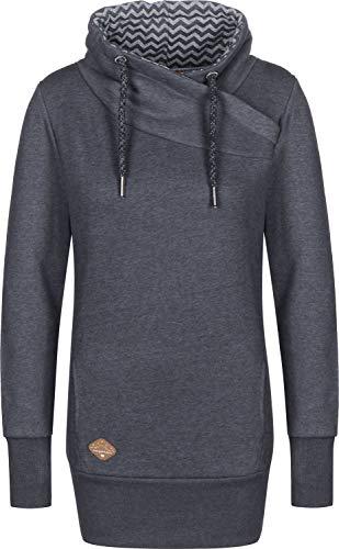 Ragwear NESKA Damen Frauen Sweater, Kapuzenpulli, Hoodie,Regular Fit,Navy(2028), XS
