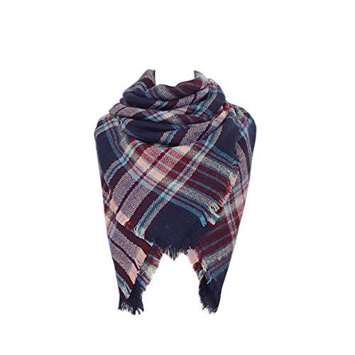 Spring fever Cozy Plaid Long Winter Shawl Lattice Oversized Blanket Scarf Wrap A42