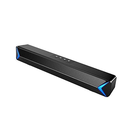 COLTD Barra de Sonido de TV, Altavoz estéreo portátil Bluetooth 5.0, Mini Altavoz de Barra de Sonido para PC/teléfono móvil/tabletas/Escritorio, conexión RCA/Aux.