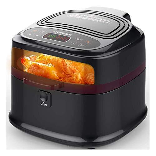 RENXR Freidora De Aire Halógenas Parrillas del Horno, Pantalla LCD Digital, Cocinar con Poca Grasa Saludable Libre De Aceite, 8L 1200W