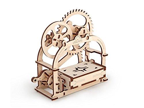 UGEARS Mechanische Box 3D Holzpuzzle für Erwachsene und Jugendliche - Originallagerung von Visitenkarten