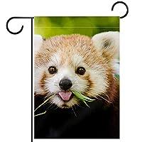ガーデンフラッグ両面印刷防水動物の赤いパンダ 庭、庭の屋外装飾用