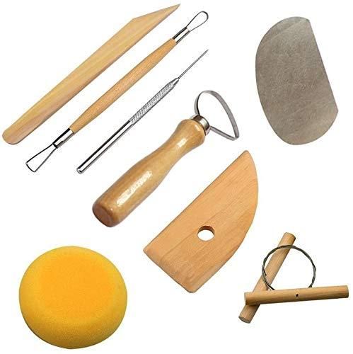 Cozyswan Hochwertige nützliche RSET-POT1 komplett Pottery Werkzeug-Set, 8-teilig