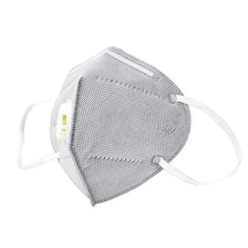 GUNGUN Máscara Antipolvo para Exteriores#máscara antipolución Máscara Protectora Reutilizable y Lavable#máscara de carbón Activado con 2 válvulas de exhalación y 4 sábanas de algodón con