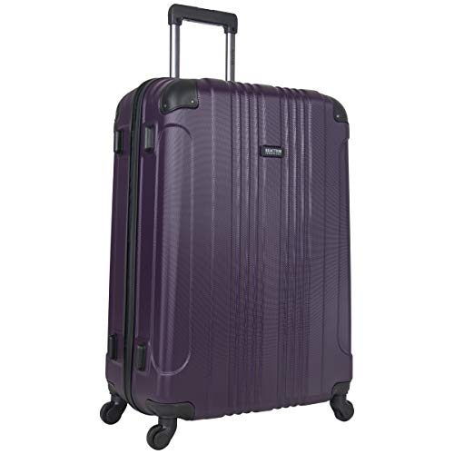 Kenneth Cole Reaction Out Of Bounds 28-inch Check-Size Lightweight Durable Hardshell 4-Wheel Spinner Upright Luggage, Deep Purple