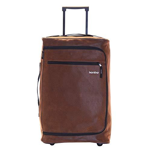 Karabar Hudson bolsa de equipaje de mano con ruedas - 10 años de garantía, Marrón