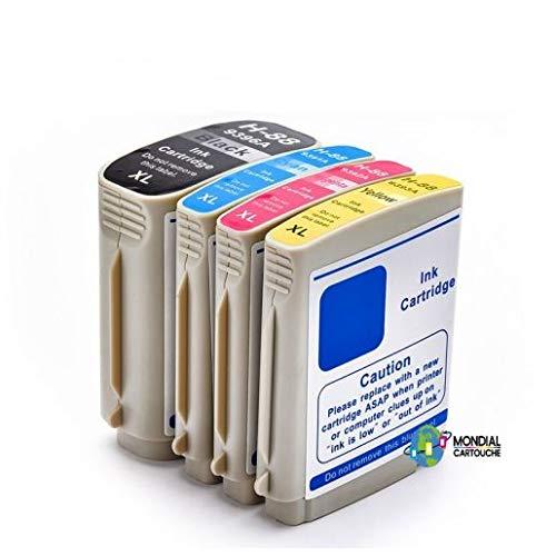 Mondial Cartucho HP-88 XL - Pack de 4 cartuchos de tinta compatibles con HP - 4 colores - HP-88 Pack XL