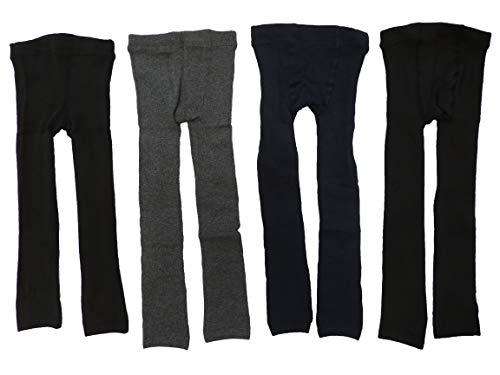 4er Pack Mix Farben Thermo Unisex Jungen und Mädchen Leggings Größe 86-134 (110-122)