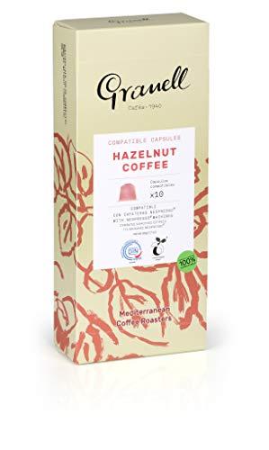 Granell - Aromas - Espresso Avellana | Capsulas Compatibles Nespresso 100% Café Arabica - 10 Cápsulas de Café Compostables
