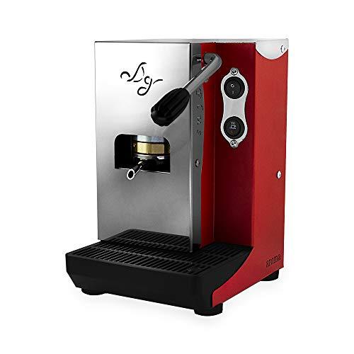 Aroma Plus - Macchina caffe cialde carta ese 44mm (ROSSO)
