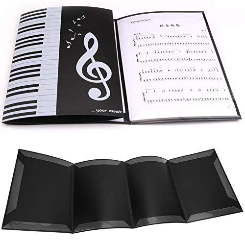logozoe Leichter, langlebiger Musikspeicherordner, Musikordner, Kunststoff-A4-Klavier 4 Seiten für die tägliche Archivierung von Dateien