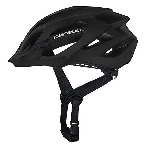 Cairbull Größe Specialized Fahrradhelm MTB Helm Mountainbike Helm Herren & Damen Schwarz mit Rucksack Fahrrad Helm Integral 21 Belüftungskanäle (Schwarz01, M/L (55-60CM))