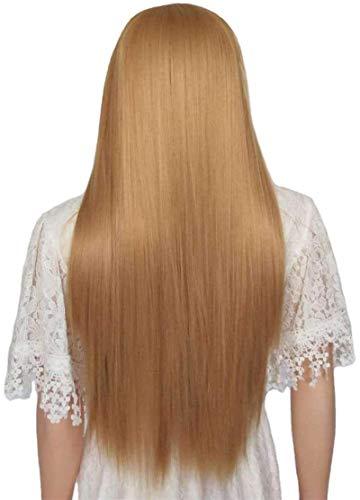 L&B-MR Wigs Perücken Filament Gerade Haar Damen Hochtemperatur Seide Rose Mesh Kopfbedeckungshaare Die Kopfbedeckungsgröße kann frei eingestellt Werden