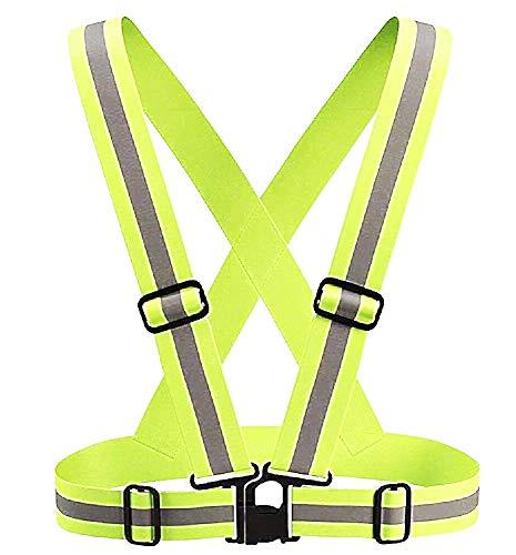 Reflecterend jack - reflecterend vest - zeer zichtbaar - schouderbanden - hardlopen - verstelbaar - fietsen - fluorescerend groen geel - origineel geschenkidee jogging