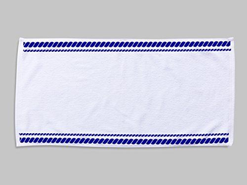 Toalla confeccionada Cuerdas | 50 x 100 cm | Toalla fabricada en tejido alta calidad impresa a todo color 1 cara