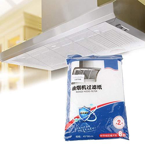 Duokon Filtro de Grasa, reemplazo de Filtro a Prueba de Aceite de Campana extractora de 2 Piezas/Paquete para Campanas extractoras de Visera y Ventiladores de extracción Aparato de Cocina