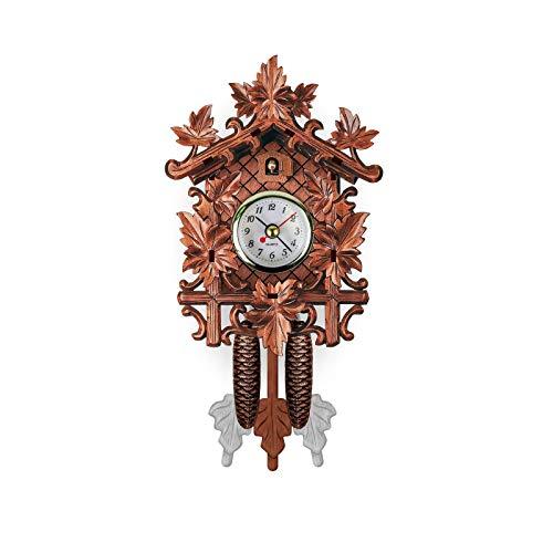 MEYLEE Vintage Relojes De Cuco Silencioso, Relojes De Pared Columpio Arte Decoración Home Sala De Estar Cocina Oficina Restaurante,302