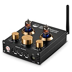 P1 is a Bluetooth vacuum & valve tube preamplifier and headphone amplifier. Headphone output is 160mW @32Ω and is suitable for 32~300Ω headphones and headsets. Classic 6J5 vacuum & valve tube can provide warm retro tube sound. It can be replaced by 6...