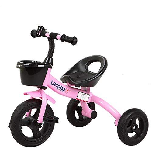 Kinderdriewieler Kinderfiets 1-6 Jaar Oud Kind 3 Wiel Baby Fiets roze