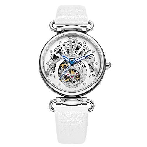 ROCOS Reloj Mecánico Automático para Mujer Reloj Analógico Esquelet