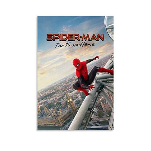Ghychk Spider-Man Comic-Film, Superhelden-Ölgemälde, moderne minimalistische Atmosphäre für Zuhause, Büro, Schlafzimmer, Wohnzimmer, Wanddekoration, fertig zum Aufhängen, 50 x 75 cm