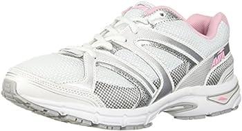 Avia Women s Avi-Execute-II Running Shoe White/Chrome Silver/Tickle Pink 11 M US