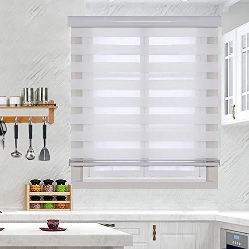 Doppelrollo Rollos Doppeljalousien Für Fenster Mit Aluminiumkassetten, Mit Seitenkettenjalousien, Durchscheinend Für Den Innenbereich
