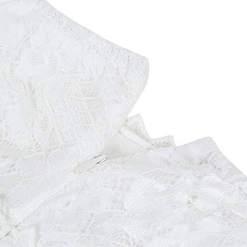 Overdose Vestido de Novia de Las Mujeres Blanco de la Honda del Verano con Cuello en v Sexy Encaje dividiendo Vestido de Falda Larga Irregular