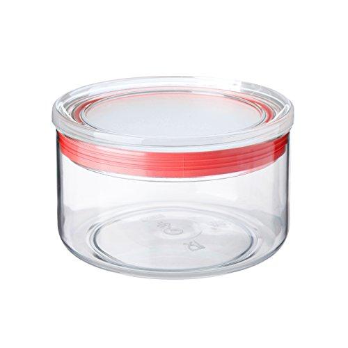 TATAY 1125009 - Bote de cocina transparente de poliestireno libre de BPA con cierre hermético, uso alimentario, óptimo para conservas, apto para lavavajillas, capacidad 0.5 litros, medidas 12.5