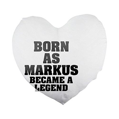 Nacido como Markus, se convirtió en una leyenda en forma de corazón funda de almohada