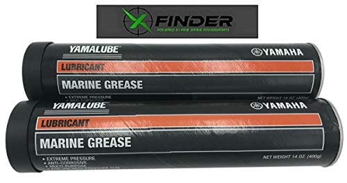 XFINDER POWERED BY PINE GROVE POWERSPORTS Yamalube ACC-GREAS-14-CT Marine Multi-Purpose Grease, 2 Pack Includes X-Finder Sticker