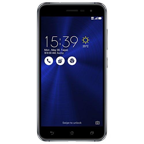 ASUS ZenFone 3 ZE520KL - Smartphone de 5.2' (WiFi, 4 GB LPDDR3, Memoria Interna de 64 GB, cámara de 8 MP, Android 6.0 Marshmallow con ZenUI), Negro Zafiro