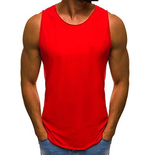 JiXuan Camiseta Lisa Sin Mangas Hombre Culturismo Gimnasios Sin Mangas en Blanco Ropa Deportiva Ropa Deportiva Chaleco Muscular