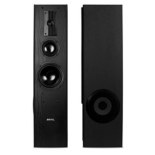 Standlautsprecher Lautsprecher Paar black
