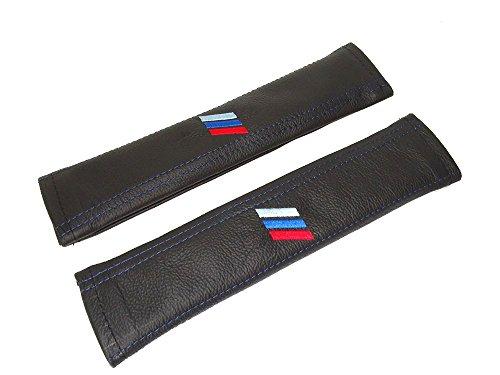 Preisvergleich Produktbild 2 x Sicherheitsgurt umfasst die Pads Schwarz Schultertasche Leder M3 Power Stripes Edition 30 cm Lang
